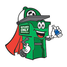 Niche Cartoons Mascot For All In One Recycling