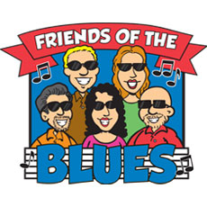 Niche Cartoons Friends Of The Blues Non-profit Club Logo