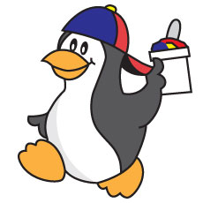 Niche Cartoons Penguin Cartoon Mascot For Sno-Ball Business