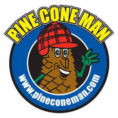 Niche Cartoons Logo For Pine Cone Man
