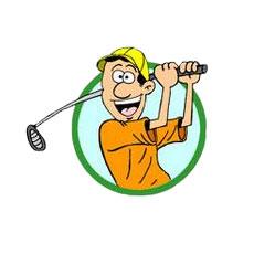 Niche Cartoons Sports Cartoon Logo For Golf Gifts Etc