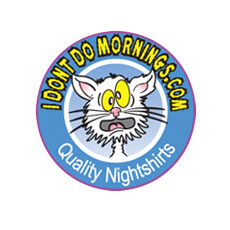 Niche Cartoons Logo For IDontDoMornings.com Clothing Store Cartoon Logo
