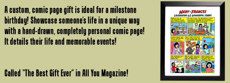 Niche Cartoons Custom Birthday Comic Page