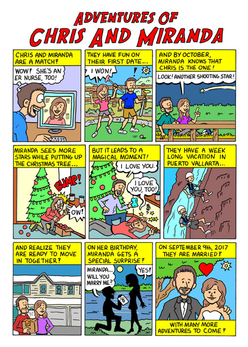 Niche Cartoons Custom Comic Page Paper Anniversary