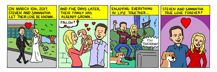 Niche Cartoons Personal Couple Comic Strip